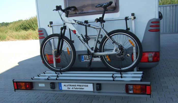 alutrans prestige wohnmobil fahrradtr ger f r 4 fahrr der. Black Bedroom Furniture Sets. Home Design Ideas