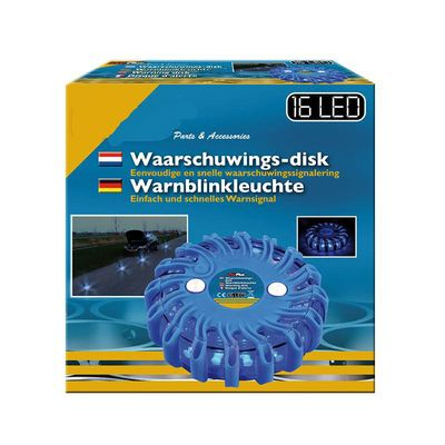 Warnleuchte 16LED blau